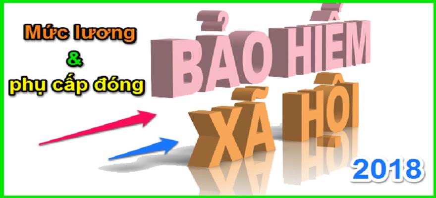 Các khoản tiền lương phải đóng BHXH bắt buộc năm 2018