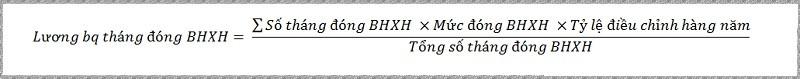 Lương bình quân tháng đóng BHXH