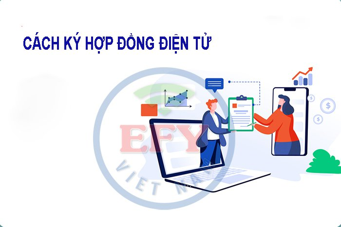 Hướng dẫn cách ký hợp đồng điện tử EFY trên phần mềm iHOADON và eBHXH