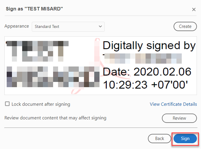 Cách ký chữ ký số trên file PDF